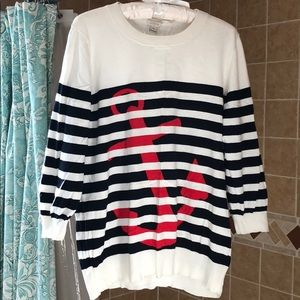 J. Crew Factory Anchor Striped Sweater